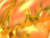 Orange abstract tube chaos — Stock Photo