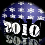 Symbol of year 2010 in spotlight — Stock Photo
