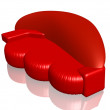 Isolated red sofa — Stock Photo