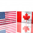 USA and Canada flags — Stock Photo
