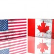 USand Canadflags — Stock Photo #1780347