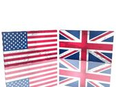 USA and UK flags — Stock Photo