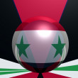 Syria national flag — Stock Photo