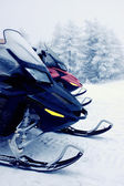 Snowmobiles in the mountains — Stock Photo