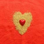 koncepcja miłości z serca — Zdjęcie stockowe