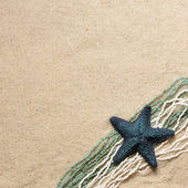 Background with seafish and beads — Stock Photo