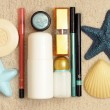 Royalty-Free Stock Photo: Cosmetics on the sea sand