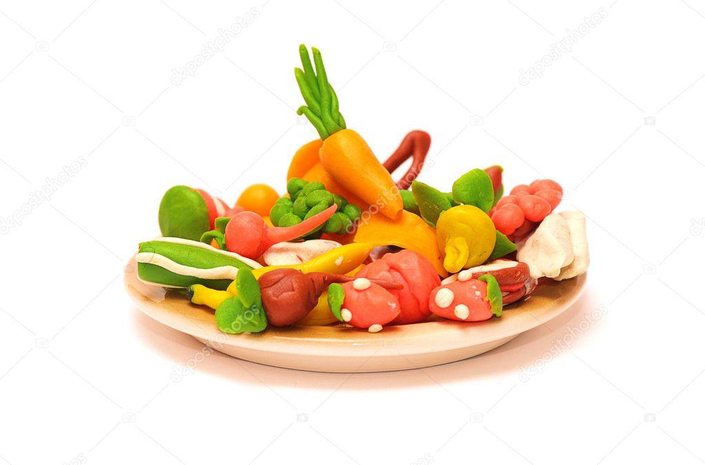 橡皮泥蔬菜和水果 — 图库照片08artmim#1825696