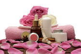 Spa objects with rose — Stock Photo