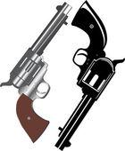 Two revolvers — Stock Vector