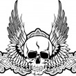 Skull with wings — Imagen vectorial