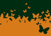 Wall-paper a template of the butterfly — Vector de stock