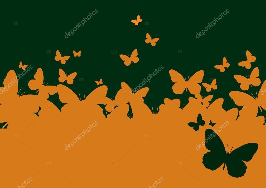 Wall-paper a template of the butterfly  Stock Vector #1809517