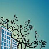 Edifici sul cielo di sfondo — Vettoriale Stock