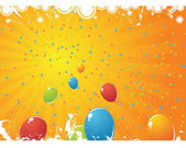 Varicoloured balls on white background — 图库矢量图片