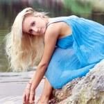 The young woman near lake — Stock Photo #1693094