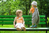 The little boy and the little girl — Stock Photo