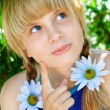 Portrait of a young girl - Stock Photo