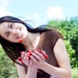The young woman with cherry — Stock Photo #2023626