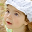 The emotionaly little girl — Stock Photo
