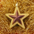 Christmas golden star — Stock Photo