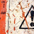 Abstract warning sign — Stock Photo