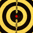Foto Stock: Dartboard target with numbers