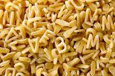 Soup pasta pattern — Stock Photo