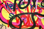 Abstracte graffiti achtergrond — Stockfoto