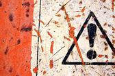 Abstract warning sign — Stock Photo