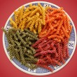 Colorful pasta dish — Stock Photo