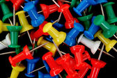 Colored push pins — Stock Photo
