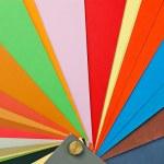 Paper color sampler — Stock Photo
