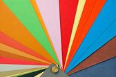 纸张颜色取样器 — 图库照片