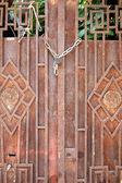Rusty vintage door — Stock Photo
