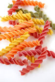 Fusilli pasta flavors — Stock Photo