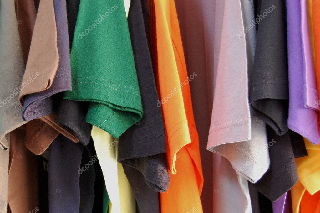 Colorful pattern of cotton t-shirts. — Stock Photo #2111942