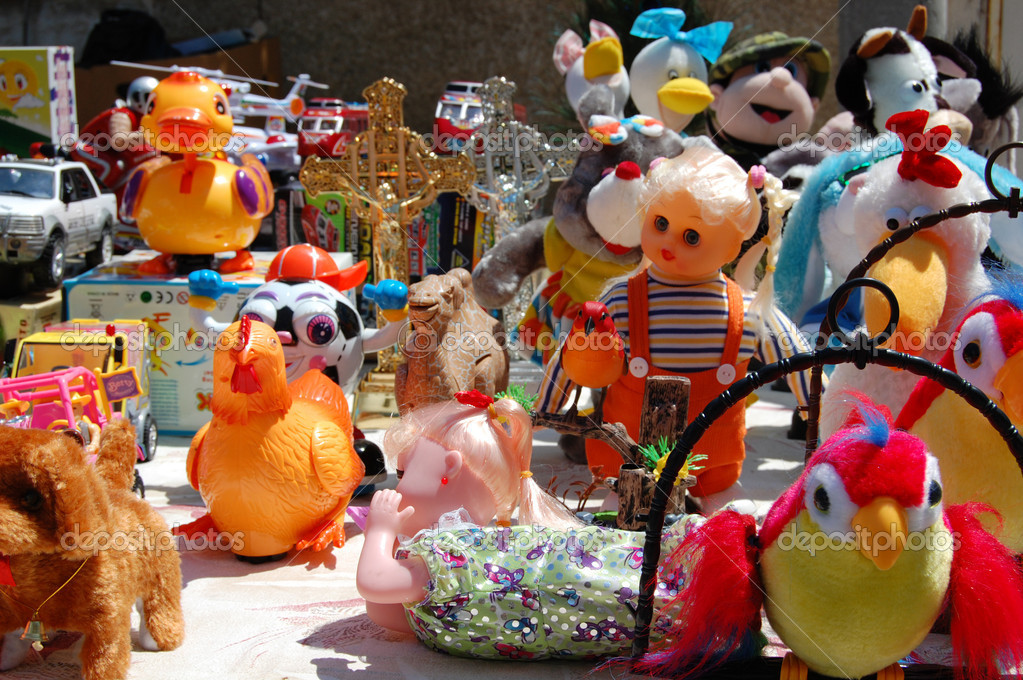 Plastic toys at a summer fair — Stock Photo #2112081