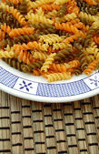 Fusilli background — Stock Photo