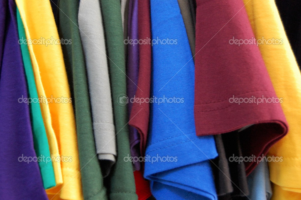 Colorful pattern of cotton t-shirts. — Stock Photo #2153008