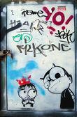 Szablon graffiti — Zdjęcie stockowe