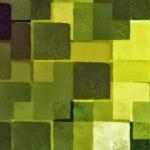 Green squares pattern — Stock Photo