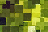 Green squares pattern — Stock Photo