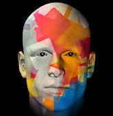 Renkli portre çizimi — Stok fotoğraf