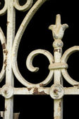 Vintage window metalwork — Stock Photo