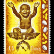 Nutrition postage stamp — Stock Photo