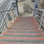 Overpass stairs — Stock Photo