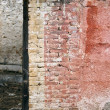 Weathered brick wall — Stock Photo