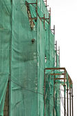 Scaffold netting — 图库照片