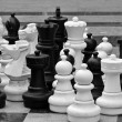 Lifesize chess pieces - Stockfoto